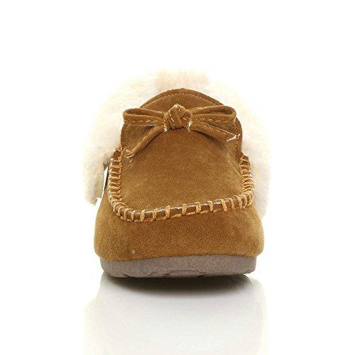 Zapatillas Ajvani Chestnut De Mujer Tan Casa Para Por Estar 6dfwdq