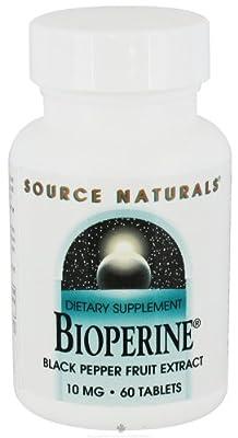 Source Naturals - Bioperine Black Pepper Fruit Extract 10 mg.