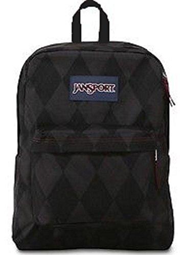 Jansport Superbreak Viking Red Preppy Argyle Backpack