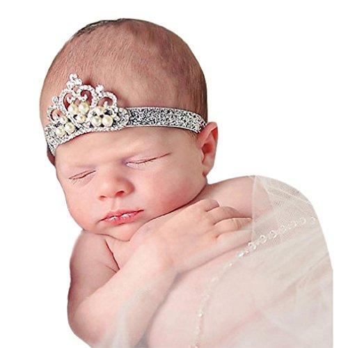 [Baby Girl Crown Hairband CocoMarket Princess Crystal Pearl hair band (D)] (Princess Halloween Costumes Diy)