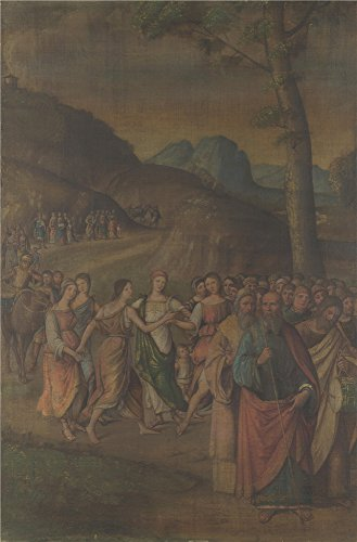 [Oil Painting 'Lorenzo Costa The Story Of Moses (The Dance Of Miriam) ' Printing On Polyster Canvas , 10 X 15 Inch / 25 X 39 Cm ,the Best Wall Art Decor And Home Decor And Gifts Is This High Definition Art Decorative Prints On] (Community Costumes Dance Type)