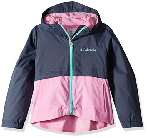 Columbia Girls' Waterproof Rain-Zilla Jacket, Nocturnal/Orchid, XX-Small ()