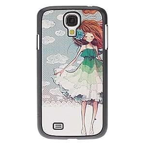 CL - Beautiful Girl Caso duro del patrón para Samsung i9500 Galaxy S4