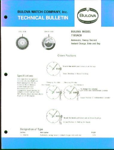 bulova-watch-11bsacb-tech-info-bulletin-1974