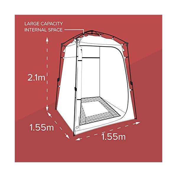 41KZrrisDPL Colapz Duschzelt Camping - Camping Toilette hoch - Mobiler Sichtschutz Outdoor Pop Up Changing Tent - Mobile Dusche Zelt