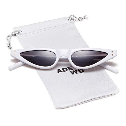 con Gafas sol pequeñas ADEWU de de White ojos retro gato ESIdxXq