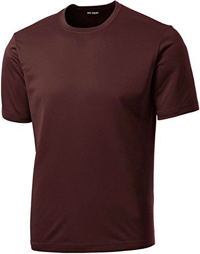 Dri-Equip Youth Athletic All Sport Training Tee Shirt,XS-Maroon