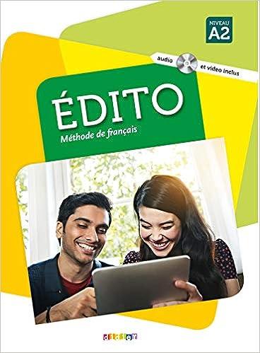 Edito Niv A2 Livre Cd Mp3 Dvd French Edition