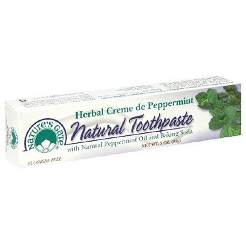 Toothpaste Herbal Creme De Mint (Nature's Gate Natural Toothpaste, Herbal Creme de Peppermint, 3 Ounce (85 g))