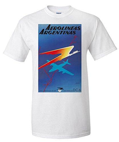 aerolineas-argentinas-vintage-poster-artist-colin-france-c-1950-white-t-shirt-xx-large
