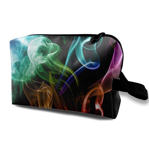 Storage Bag Travel Pouch Colored Smoke Purse Organizer Power Bank Data Wire Cosmetic Stationery Holder