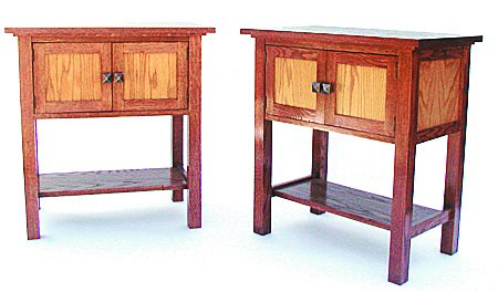 Build-Your-Own Mission Nightstands Plan - American Furniture Design