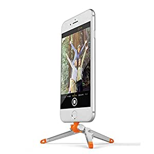 Kenu Stance   Tripod for iPhone 7 Plus, 7, 6s Plus, 6s, 6 Plus, 6, SE, 5s, 5c, 5, and iPod iTouch Gen 5   Orange