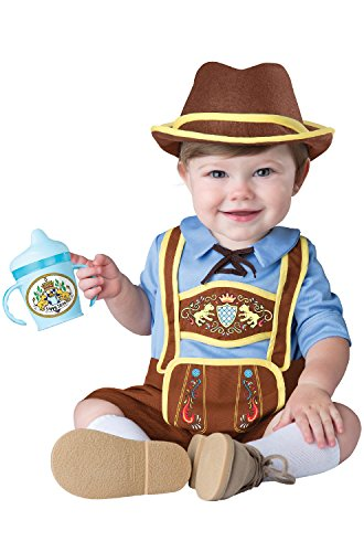 Oktoberfest Germany Costumes (InCharacter Costumes Baby Boys' Little Lederhosen Costume, Blue/Brown, Large)