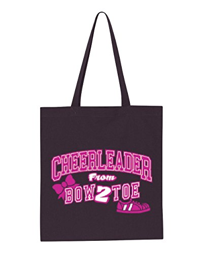 Ugo Cheerleader Bow 2 Toe Cheerleading Song Cheerleader Costume Song Bows Tote Handbags Bags Work School Travel