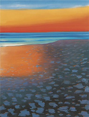 High Quality Polyster Canvas ,the Imitations Art DecorativeCanvas Prints Of Oil Painting 'the Beach', 16x21 Inch / 41x54 Cm Is Best For Home Office Artwork And Home Decoration And (Hippie Sticks Tricks)