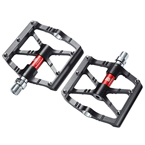 Aluminium Pedal - Dymoece Mountain Bike Pedals,Aluminium Alloy Bicycle Pedals Platform,9/16 Non-Slip Wide Bicycle Pedals High-Strength BMX Pedals