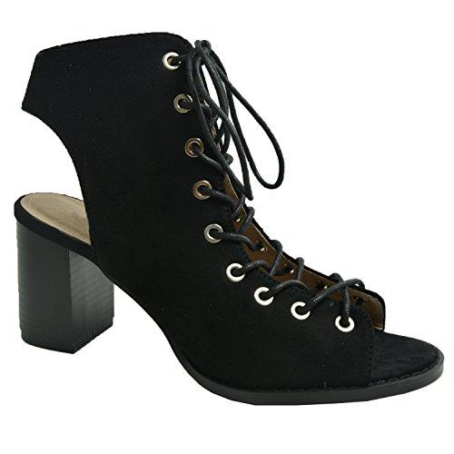 Cucu Fashion - Zapatos con tacón mujer negro