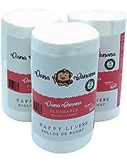 Paquete de 3 Rollos de Filtros de Bambú Dana Banana para Pañales Ecológicos de 100 Hojas de 18x28cms C/U. Hipoalergénicos – Antibacteriales – Sin Olores ni Residuos Químicos