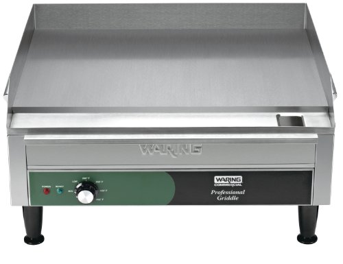 Waring Commercial WGR240X 240-volt Electric Countertop Griddle, 24-inch (24 In Electric Griddle)