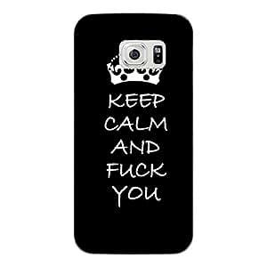 """Disagu Design Protective Case para Samsung Galaxy S6 Funda Cover """"KEEP CALM AND FUCK YOU"""""""