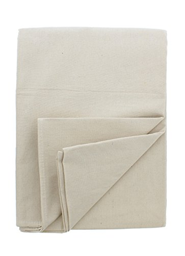 - ABN Painters Cotton Canvas Paint Drop Cloth, Jumbo 12' x 15' Foot - Protective White Tarp for Painting, Auto, Furniture
