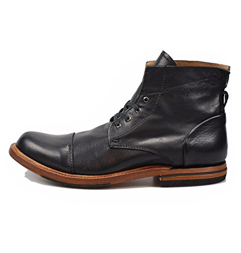 Sutro Footwear Men's Leather Chukka Lace Up Boots Handcrafted, Hand Stitched With Goodyear Welted Sole - Alder II Black - Alder Footwear
