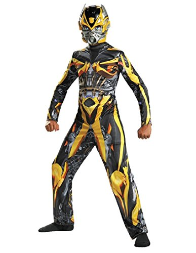 Disguise Hasbro Transformers Age of Extinction Movie Bumblebee Classic Boys Costume, Small/4-6 (Transformers Age Of Extinction Bumblebee Toy)