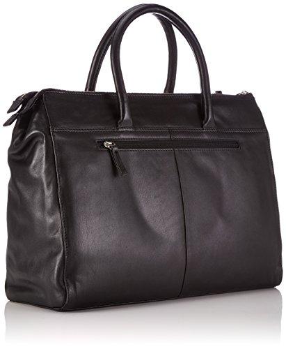 black La Gerry Mujer Shopper Bolsa Cuero Compra Weber Business De 900 Piacenza Negro Yqq1RPTO