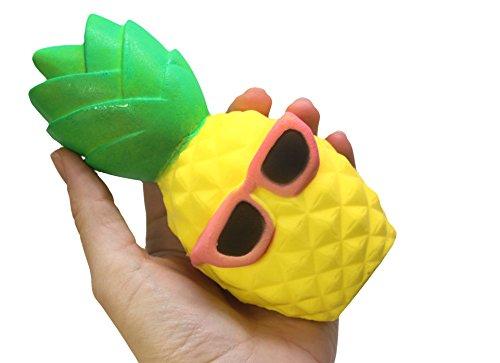 Large Pineapple Squishy Slow Rise Fruit Food Face - Sensory, Stress, Fidget - Sunglasses With Pineapple