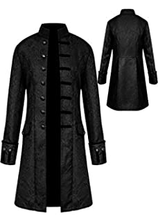 2d6453585214 Mens Vintage Tailcoat Jacket Goth Long Steampunk Formal Gothic Victorian  Frock Coat Costume for Halloween