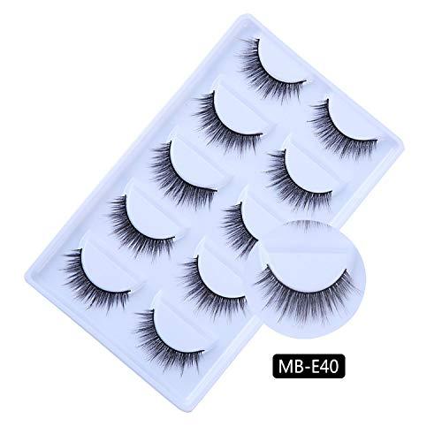 5 Pairs Mink Eyelashes 2019 New 3D Mink Lashes Thick HandMade Full Strip Fake Lashes Make up Eye lashe False Eyelashes Makeup,MB-E40