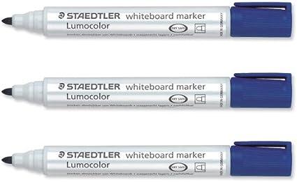 rouge STAEDTLER Lot de 3 Lumocolors marqueur pour tableau blanc 351