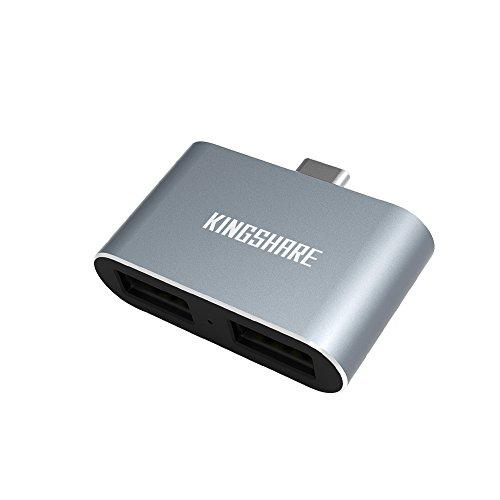 KINGSHARE USB Type C to 2 Port USB2.0 USB HUB Adap...