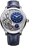 Maurice Lacroix Masterpiece Gravity 43mm Watch | Grey/Blue Leather