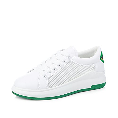 Grueso Zapato Blanco,Malla Transpirables Zapatillas,Coreano Versión Femenina De Zapatos De La Plataforma,Zapatos Del Estudiante Del Bromista Del B