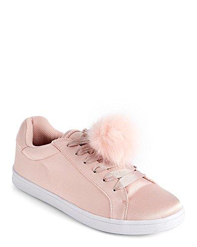 Madden Girl Women's Baabee Fashion Sneaker, Blush Satin, 7.5 M - Footwear Satin Blush