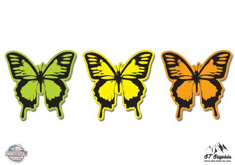 Butterflies Set of 3 Colorful - 3