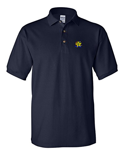 Speedy Pros Sport LIL' All Star Logo Embroidery Polo Shirt Golf Shirt - Navy, 2X Large All Star Embroidered Jersey