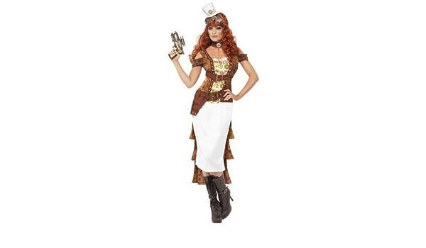 Steam Punk Wild West Agent Costume, Female (disfraz): Amazon.es ...