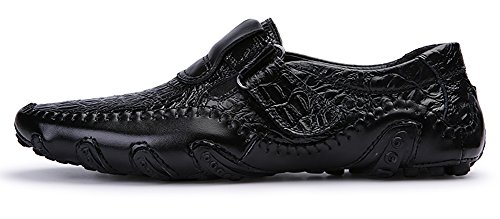 Mohem Men's Octopus Comfort Driving Car Soft Flats Loafers Casual Boat Shoes(16872988Black43)