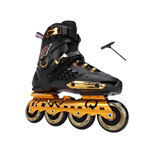 ヒール収縮むしろailj インラインスケート、スケート、大人の男の子、ローラースケート、プロの多目的スケート(3色) (色 : 黒, サイズ さいず : EU 40/US 7.5/UK 6.5/JP 25cm)