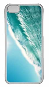 Customized iphone 5C PC Transparent Case - Wave 9 Personalized Cover by lolosakes
