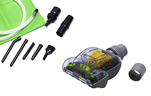 Green Label Universal Pet Hair Mini Turbo Brush & Universal Micro Vacuum Attachment Kit. Fits Bosch vacuums with 1 1/4 Friction Wands