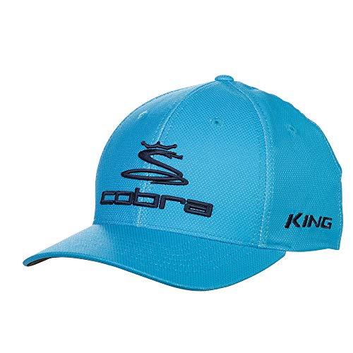 (Cobra Golf 2019 Pro Tour Stretch Fit Hat (Bleu Azur,)