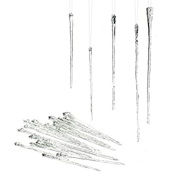 Department 56 Glass Icicle Ornament, Set of 24