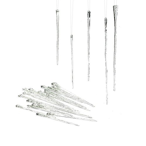 Department 56 Glass Icicle Ornament (Set of 24) ()