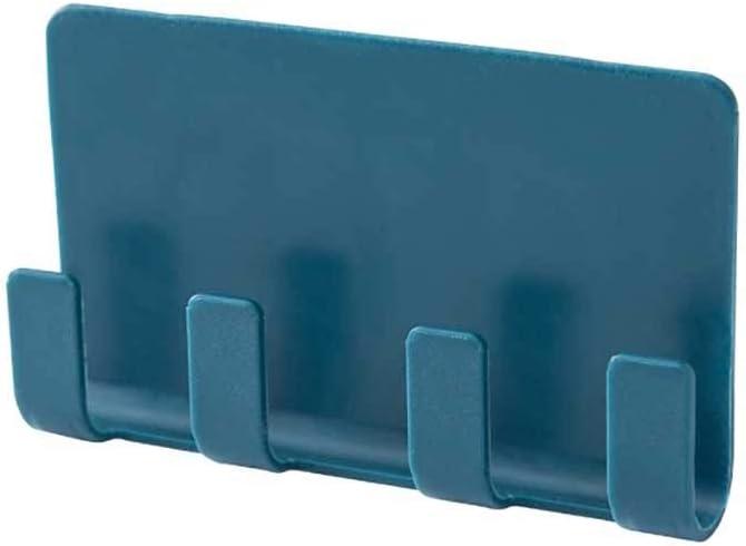 Kleine Hakenleiste Schl/üsselhalter Schl/üsselleiste Ablagemulde f/ür Smartphone Leinen und Accessoires carol -1 Schl/üsselbrett mit Vier Haken Selbstklebende Wandhaken f/ür Schl/üssel Schals