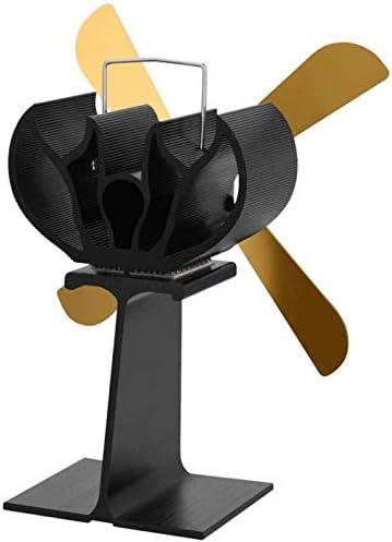 4ブレードストーブファン、ログウッドバーナー熱ストーブファン、ウッド/ログバーナー/ストーブ/暖炉用、サーキュレートウォーム