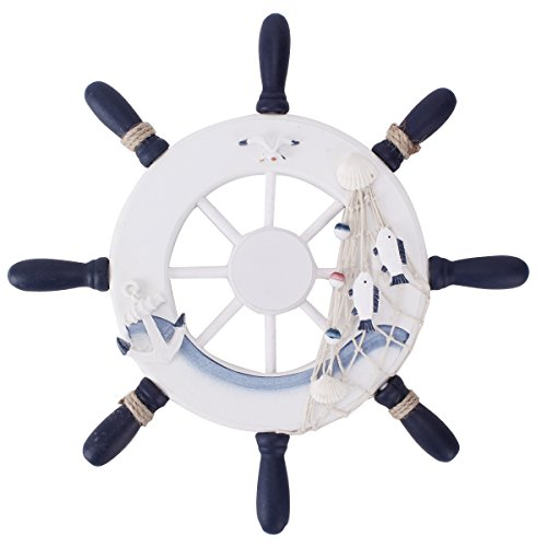 UniqueBella-Nautical-Mediterranean-Style-Nordic-Wooden-Boat-Wheel-Colour-Blue-and-White-Large